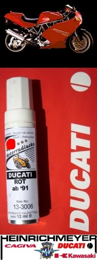 Ducati Lackstift rot ab 1991