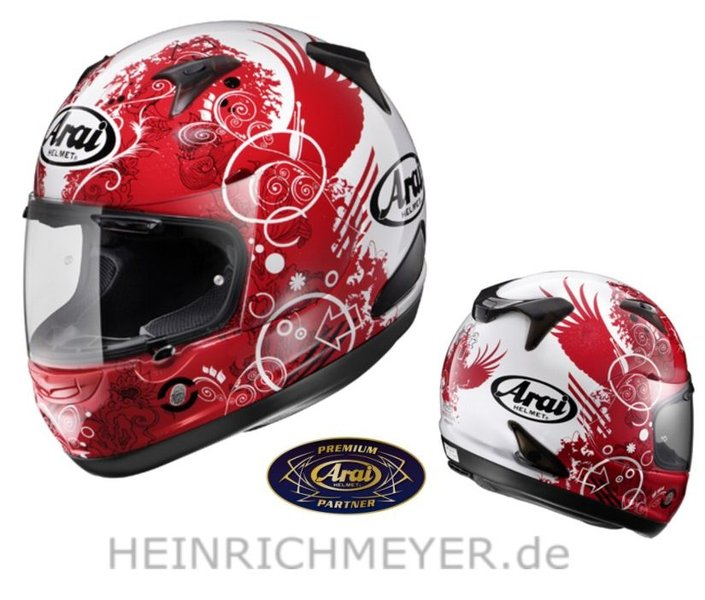 "ARAI Helm ""New Quantum"" Fiction Red REDUZIERT"